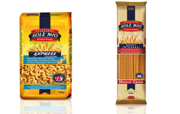 Cellentani and Whole grain spaghetti