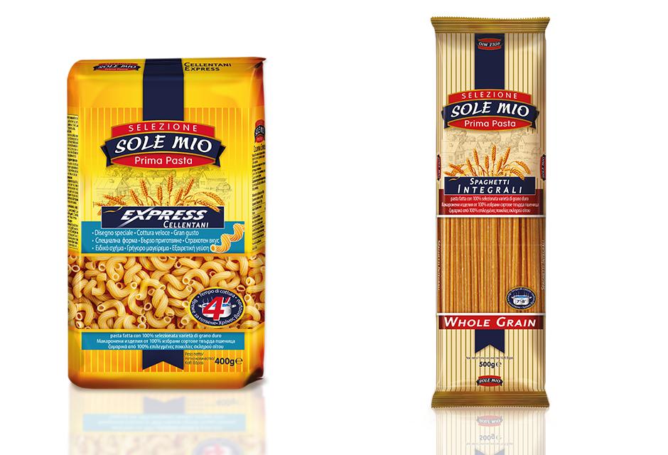 Cellentani and Whole grain spaghetti
